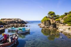 La riva mediterranea Fotografia Stock Libera da Diritti