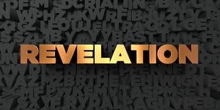 La rivelazione - testo dell'oro su fondo nero - 3D ha reso l'immagine di riserva libera della sovranità royalty illustrazione gratis