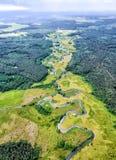 La River Valley, la vue supérieure du bourdon Image stock