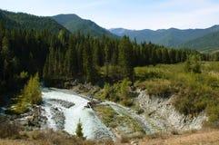 La rivière Ak-Kem dans l'Altai Photos libres de droits