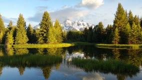 La rivière chez le grand Tetons, Etats-Unis Images stock