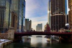 La rivière Chicago Photographie stock libre de droits