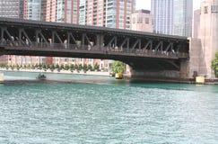 La rivière Chicago Photos libres de droits