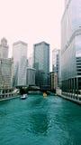 La rivière Chicago Image stock