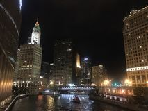 La rivière Chicago image libre de droits