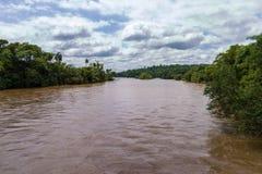 La rivière d'Iguacu Photos stock