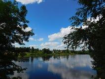 La rivière d'Oredezh Photographie stock