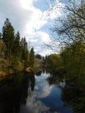 La rivière d'Oredezh et ses banques Photo libre de droits