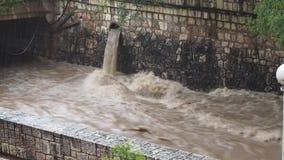 La rivière de Cañada un jour pluvieux banque de vidéos