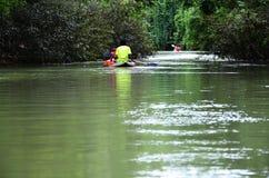 La rivière de canoë Photographie stock