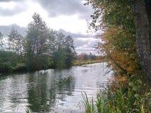 La rivière de castor dans le secteur de PIC 2 Krupki images libres de droits