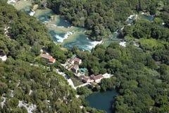 Cascade de Krka, parc national Krka Image libre de droits