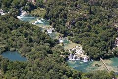 Cascade de Krka, parc national Krka Photo stock
