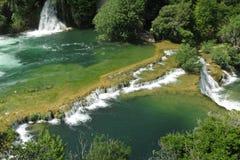 Cascade de Krka, parc national Krka Images stock