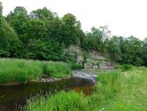 La rivière de la lave Photographie stock
