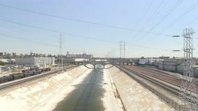 La rivière de Los Angeles banque de vidéos