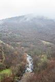 La rivière de montagne en Géorgie Image stock