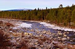 La rivière de Niva peut dedans tôt Photo libre de droits
