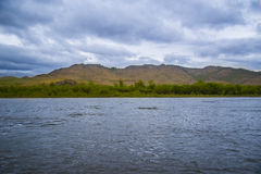 La rivière de Selenga Image stock