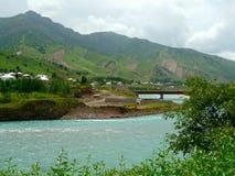 La rivière de Vakhsh Photographie stock libre de droits