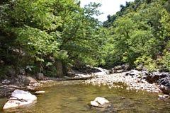 La rivière de Vilasha avec de beaux rivages Image libre de droits