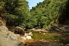 La rivière de Vilasha avec de beaux rivages Photo stock