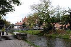 La rivière de Vilna, qui sépare le secteur d'upis de ¾ d'UÅ de Vilnius image libre de droits