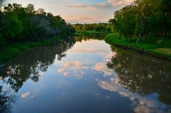 La rivière du verre Photographie stock