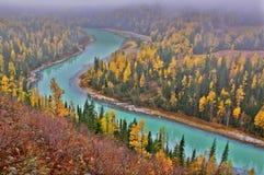 La rivière en croissant, Moon Bay image stock