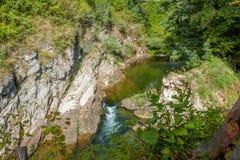 La rivière en gorge Croatie Image libre de droits