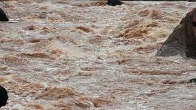 La rivière en Thaïlande avec la rapide faisante rage de whitewater est favori des combles banque de vidéos