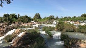 La rivière et les cascades de montagne banque de vidéos