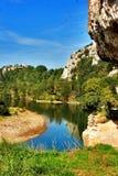 La rivière lente Photo libre de droits