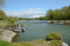 La rivière librement de méandre a donné De Pau Photos libres de droits
