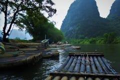 La rivière Lijiang, Yangshuo Photos stock