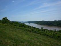 La rivière Ohio de donnent sur image stock