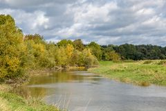La rivière Ouse dans le Sussex image libre de droits