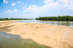 La rivière Platte, à l'ouest d'Omaha, le Nébraska Photographie stock libre de droits