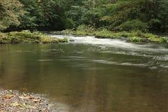 La rivière présagent - arrosez toujours avec la rapide à l'arrière-plan Image libre de droits