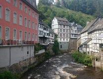 La rivière Rurh dans Monschau Image libre de droits