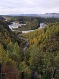 La rivière Snake du train d'Alaska photo stock