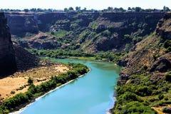 La rivière Snake entre dans l'Idaho Photographie stock libre de droits