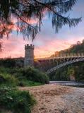 La rivière Spey en Ecosse Images libres de droits