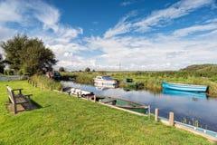 La rivière Thurne sur la Norfolk Broads image libre de droits