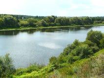La rivière Tsna Photographie stock