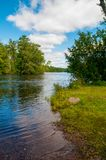 La rivière Wisconsin Sunny Summer Day image libre de droits