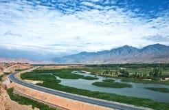La rivière Yellow dans Saide Image stock