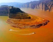 La rivière Yellow en Chine Photos libres de droits