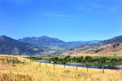 La rivière Yellowstone en été Image libre de droits