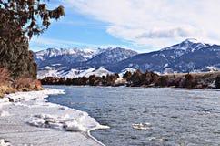 La rivière Yellowstone Vallée de paradis image libre de droits
